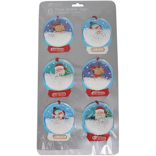 IGD Giftmaker Collection Snowshaker Gift Tags - Pack of 6