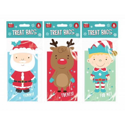 Gem Christmas Party Treat Bags, Assorted Designs - Pack of 6
