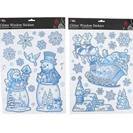 PMS Xmas Window Stickers - Assorted Designs